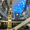 This is the view greeting travellers who arrive on the Canada Line at Vancouver International Airport's Link Building.