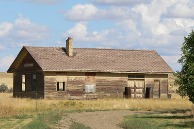 Old NP depot at Brockway, MT. Tracks are gone. NP built a branch line from Glendive to Brockway which now ends at Circle, MT.
