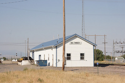 NP depot in Big Timber, MT.