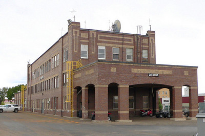 NP depot at Glendive, MT.