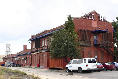Milwaukee Road depot at Lewistown, MT. It is now a restaurant.