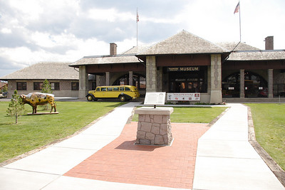 Oregon Short Line/Union Pacific depot in West Yellowstone, MT. Now houses the Yellowstone Museum.