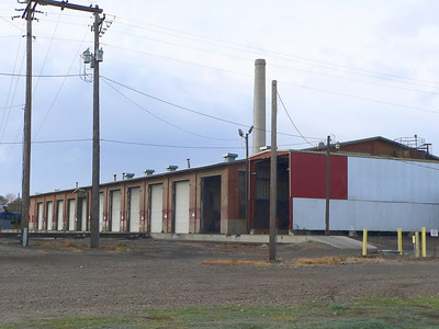 Milwaukee Road shop buildings at Miles City, MT.