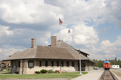 Oregon Short Line/Union Pacific depot in West Yellowstone, MT.