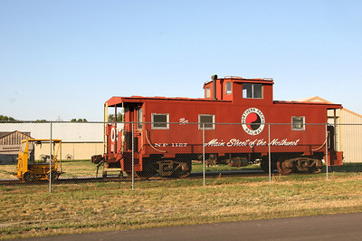 NP caboose #1127 at Columbus, MT. I can't determine if it is an original NP.