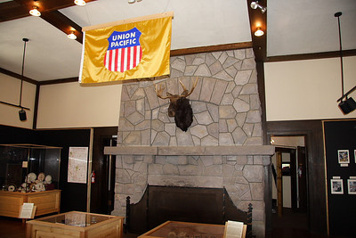 Inside the Oregon Short Line/Union Pacific depot in West Yellowstone, MT.