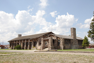 Former Oregon Short Line/Union Pacific dining hall adjacent to the depot in West Yellowstone, MT.