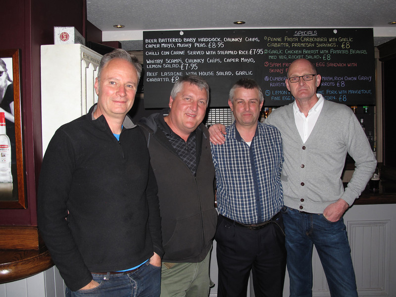 L-R Kevin Williams,no longer on the railway,John Taylor,DTM Northern,Phil Cheeseborough,Driver for Northern,Gary Hardcastle,Driver for Cross-Country.13/05/2014.