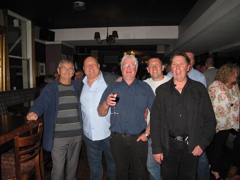 Ron Smith,Les Waterworth,Mick Rawlings,Howard Hewitt and Danny Kaye.13/05/2014.