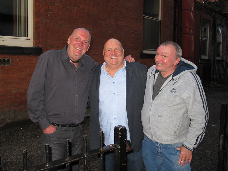 L-R Ian Blogg,retired,Les Waterworth,Driver for West coast railways,Nigel Ryder,Driver for Cross Country.13/05/2014.