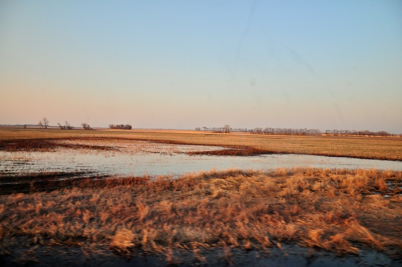 Sunrise, somewhere east of Rugby, ND