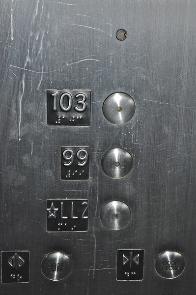 I was disappointed that the elevator didn't have a button for every floor.