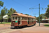 Former Melbourne W2 class Tram 329 is seen in action at Whiteman Park near Perth WA. Built in 1925 by Holdens body builders and designed to carry 52 seated & 93 standing passengers. One of 406 built this example is preserved by the Perth electric tramway society, & well worth a visit.