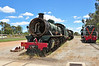 W Class 945 is seen awaiting attention at Pinjarra WA. Built by Beyer Peacock Manchester in 1950, this proved to be one of the most succesful steam locomotive classes used in WA. Eighteen are preserved.