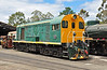 MRWA F40 is seen at Dwellingup yard. Built by English Electric in 1958 and is fitted with the 6SRKT power unit.