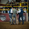 The tough life of the Pro Bull Rider after being stomped by his last ride.  From the 2011 National Western Stock Show, Denver, Colorado.