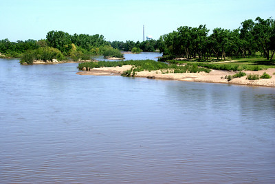 Crossing over Arkansas River at Hutchinson