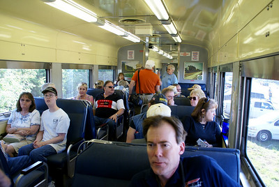 Inside passenger car - Hutchinson Fiesta train