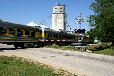 Yoder Heritage train passing thru Maize, KS