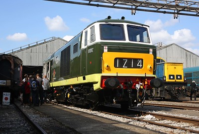 D7017 stars at the Old Oak Common open day, its last visit to its last depot in BR service. 2/9/17