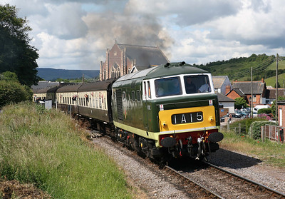 D7017 departs Watchet on the 10.00 out of Minehead.