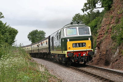 D7017 climbs past the 'Teddy Bear' crossing near Castle Hill. It looks like I am about to get rained on again, judging by those grey clouds behind. 11/6/10