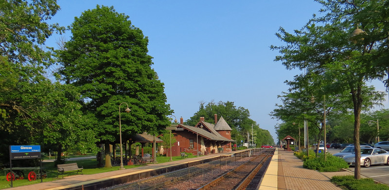 A wider look at the Glencoe station and immediate area.