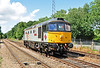 """One of my favourites. Crompton 33063 """"R J Mitchell"""" runs into the platform at Eridge to work her service train 05/08/2012. She looked stunning, well done to the South East locomotive group."""