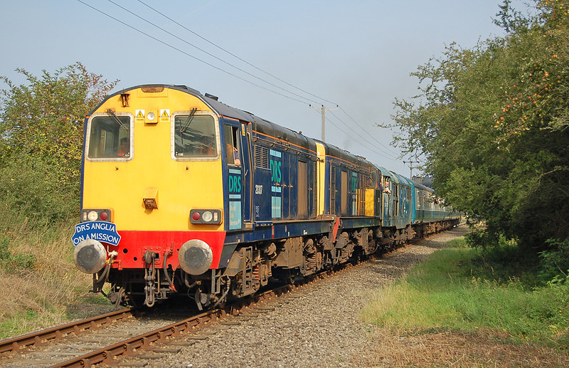 DRS 20317+305 depart Dereham 20 September 2008 on a mission.