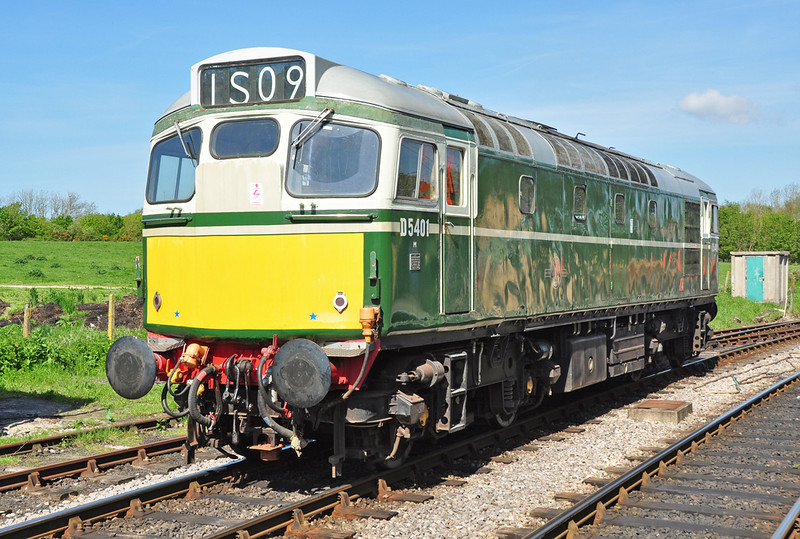 D5401 (27056) waits for its next turn of duty at Norden during the 2012 Swanage gala weekend.