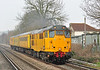 Network rail 31465 has charge of 3Z04 Hither Green-Eastleigh Ultrasonic test train, seen here at Addlestone moor 22 March 2013.