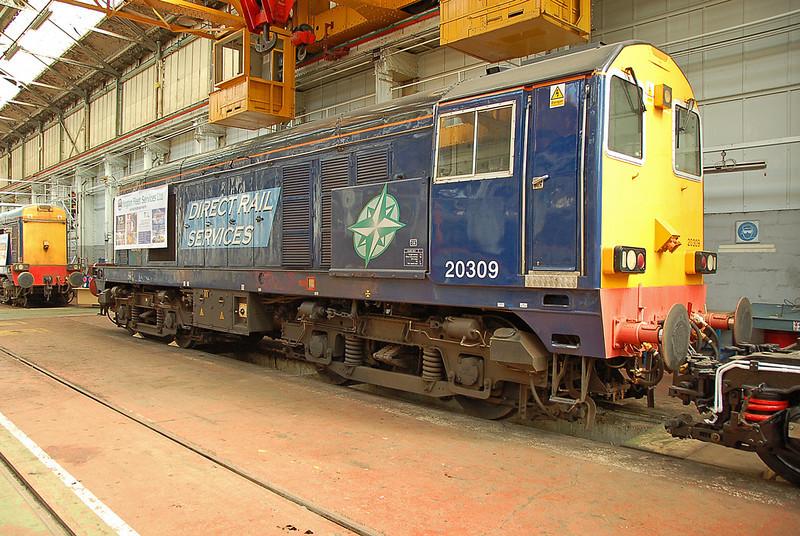 DRS 20309 awaits repair in Eastleigh works 23 May 2009.