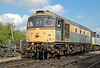 """33019 """"Griffon"""" in Dutch livery is seen up & running in Shakerstone yard May 2010, having had two refurbished cylinder heads fitted the previous day."""