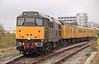 31459 departs the bay platform at Basingstoke, with 1Z12 radio survey train heading for Reading 28/10/2009.