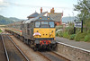 Fragonset 31452 draws into Blue Anchor on the West Somerset Railway, with 1Z35 Butlins Express heading for Bristol Temple Meads 28/07/2007.
