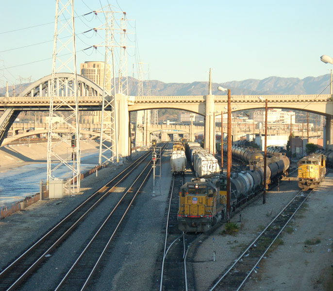 Union Pacific's East Yard in the morning.