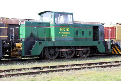 Hunslett Engine Co 0-6-0DH No503/6614 Long Marston 09/04/11.