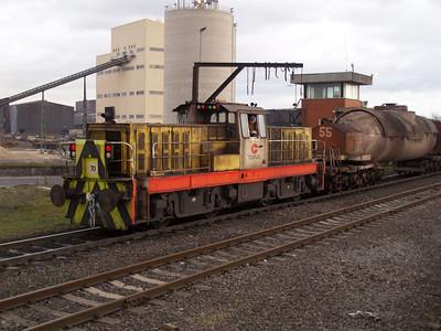 Hunslett Engine Co Bo-BoDE No70 (7281) Scunthorpe Steel Works 10/11/07.