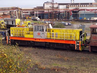 Hunslett Engine Co Bo-BoDE No78 (7289) Scunthorpe Steel Works 10/11/07.