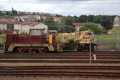 Hunslet Engine Co Ltd 0-6-0DH 7041 at Polmadie 04/07/12.