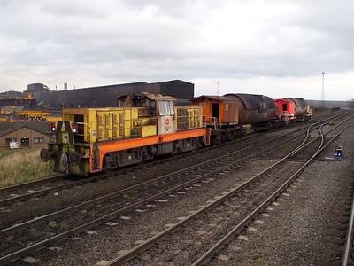 Hunslett Engine Co Bo-BoDE No80 (7474) Scunthorpe Steel Works 10/11/07.