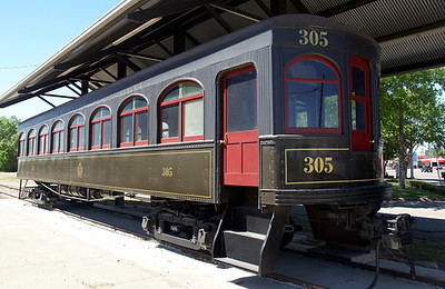 Southern Traction Company interurban car on display in Corsicana, TX