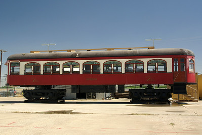 North Texas Traction car #411 in storage in Ft Worth.  I have spent many Thursdays working on this car.