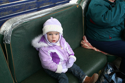 Makenna trying to figure out when this train was going to get started.