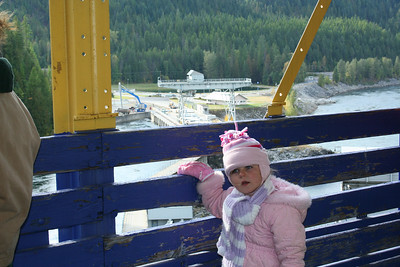 Anissa was checking out the Box Canyon Dam.