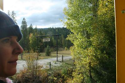 Lorinda looking out at the Poachontas Creek Ranch.