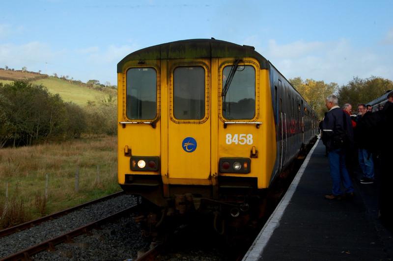 NIR Thumper 458 at Inch Abbey Platform, 18th October 2014