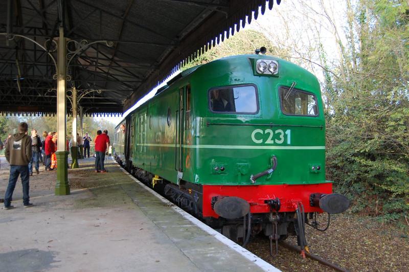 C231 at Downpatrick Loop Platform, 18th October.