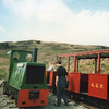 The cliff top terminus of the Groudle Glen Railway in May 1986.