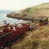 The cliff top terminus on the Groudle Glen Railway in May 1986.